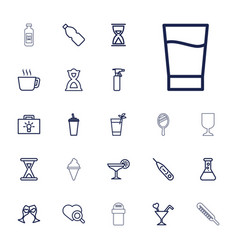 22 glass icons vector