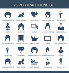 25 portrait icons vector