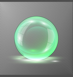 3d green sphere of transparent vector