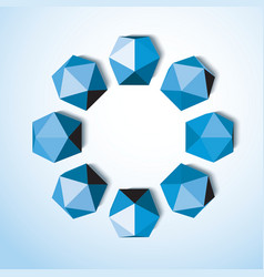 Abstract background of blue diamonds on a white vector image