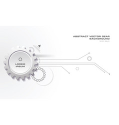 Abstract gear background with lines in grey color vector