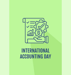 Accounting career awareness postcard with linear vector