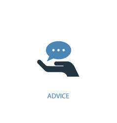 Advice concept 2 colored icon simple blue element vector