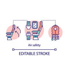 Air safety concept icon emergency help idea thin vector