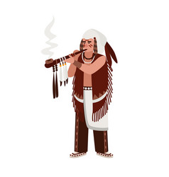 American indian man wearing traditional clothes vector