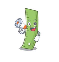 An icon ruler having a megaphone vector