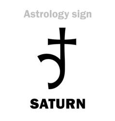Astrology planet saturn vector