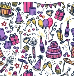 Birthday party time seamless pattern vector