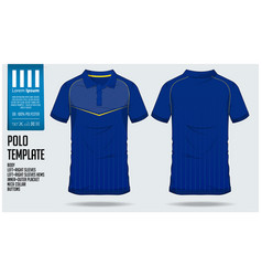 Blue polo t shirt sport template design vector