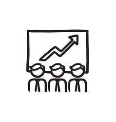 business growth sketch icon vector image