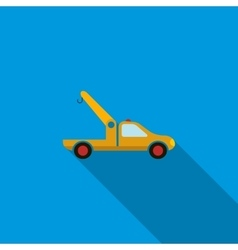 Car towing truck icon flat style vector image