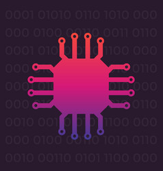 chipset icon vector image