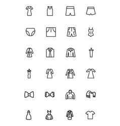 Clothes Line Icons 3 vector image