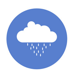 Cloud icon with rain vector