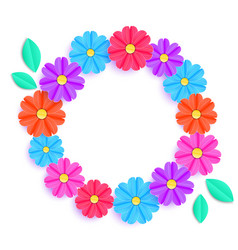 Colorful floral wreath vector