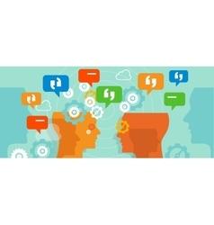 complaints customer speak conversation bubble talk vector image