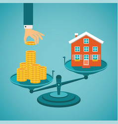 Concept of investment in real estate vector