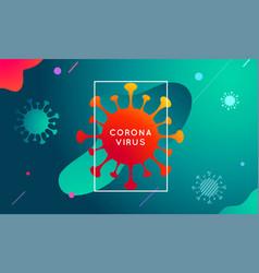 coronavirus covid-19 modern colorful vector image