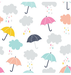 cute umbrella vector image