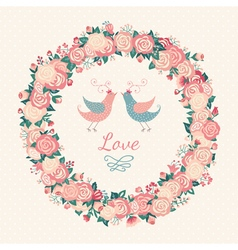 Cute wedding invitation vector