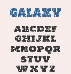 decorative alphabet font vector image