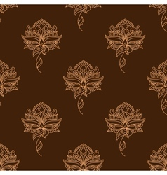 Delicate paisley flowers persian seamless pattern vector