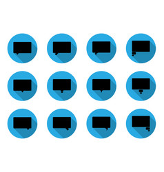 dialog bubbles in flat icon vector image vector image
