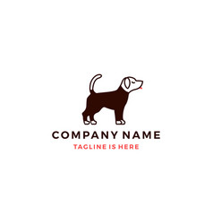 dog wearing shirt logo template vector image