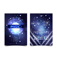 electro sound party music poster electronic club vector image