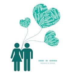 Emerald green plants couple in love vector