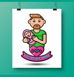 Fathers day icons 25 vector