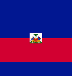 flag haiti flat icon vector image