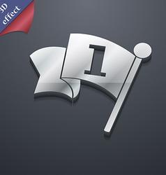 Flag icon symbol 3D style Trendy modern design vector image
