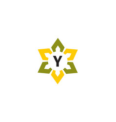 Flower infinity letter y vector