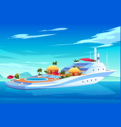 future floating resort hotel concept vector image