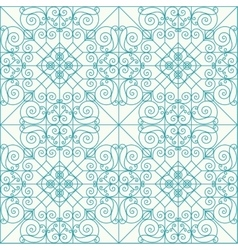 Geometric seamless ethnic background vector image