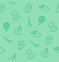golf outline isometric pattern vector image