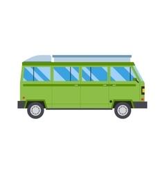 Green travel car vector
