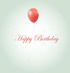 Greeting card with a birthday vector