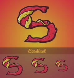 Halloween decorative alphabet - S letter vector image