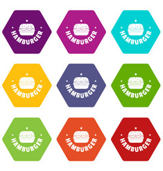 hamburger icons set 9 vector image