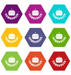 hamburger icons set 9 vector image