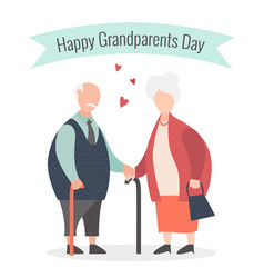 happy grandparents day cartoon vector image