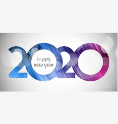 happy new year banner with cut out number design vector image