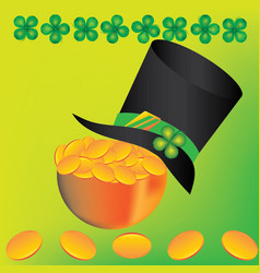 Hat and leprechaun bowler vector