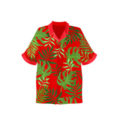 Hawaiian aloha shirt on a vector