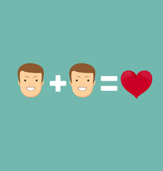 Homosexual couple in love vector