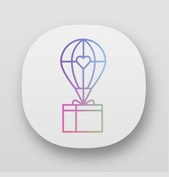 Humanitarian assistance app icon delivery aid vector