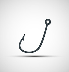 icons fishhook vector image