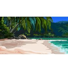 landscape tropical coast vector image
